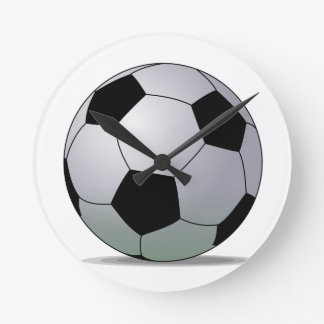 Association Football American Soccer Ball Round Wall Clock