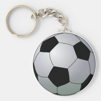 Association Football American Soccer Ball Keychain