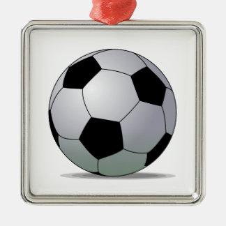 Association Football American Soccer Ball Metal Ornament