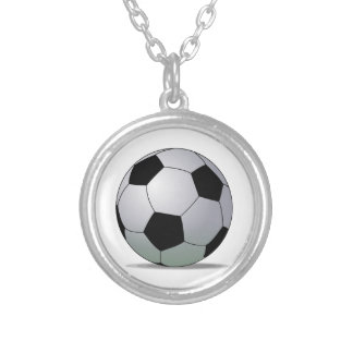 Association Football American Soccer Ball Round Pendant Necklace