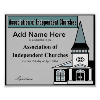 Association of Independent Churches Poster