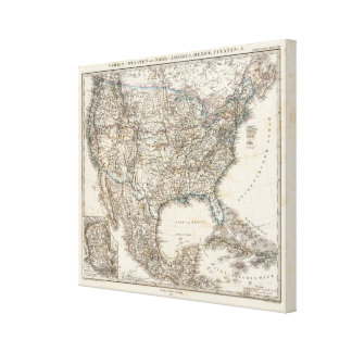 Association states of North America, Mexico Canvas Print