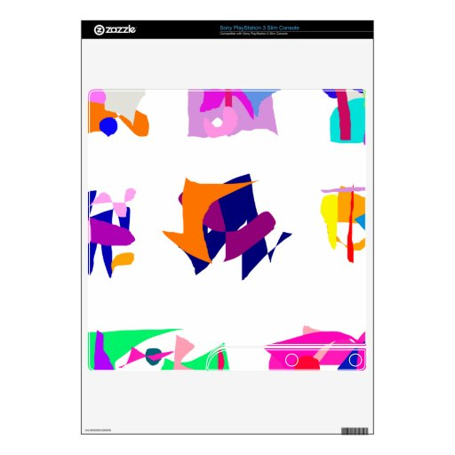 Assorted Abstracts Decals For The PS3 Slim