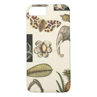 Assorted Animals Painted on Cream Background iPhone 7 Case