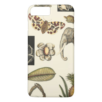 Assorted Animals Painted on Cream Background iPhone 7 Plus Case