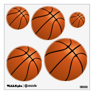 Assorted Basketball Wall Decal Set