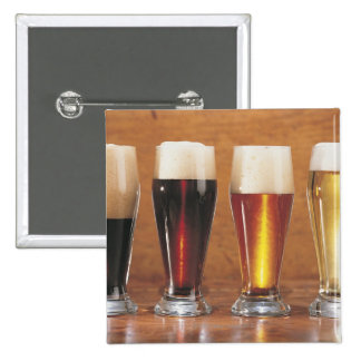 Assorted beers and ales 2 inch square button