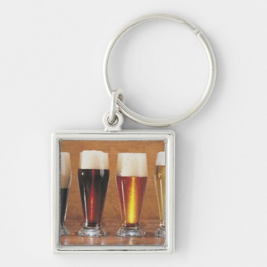 Assorted beers and ales keychain