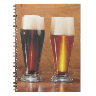 Assorted beers and ales spiral note books