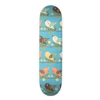 Assorted birds pattern skateboard
