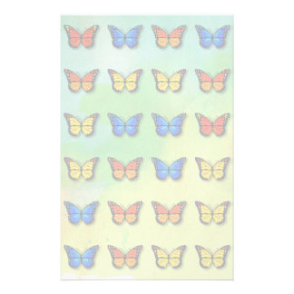Assorted butterflies pattern stationery