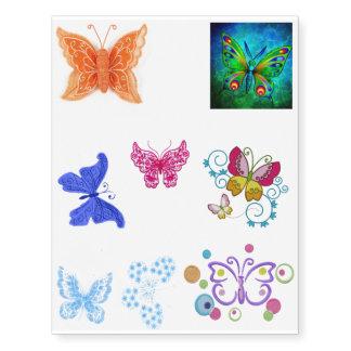Assorted Butterfly Tattoo Sheet Temporary Tattoos