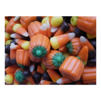 Assorted Candy Corn Poster Print