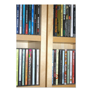 Assorted CD's on a Shelving Unit Card