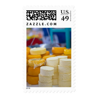 Assorted cheeses stamp