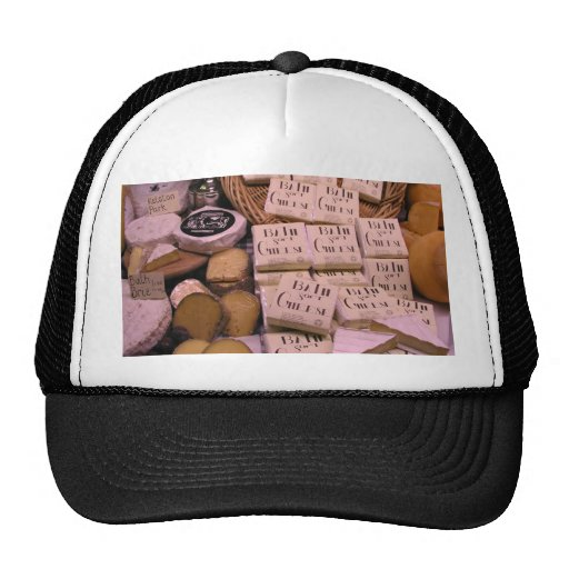 Assorted cheeses trucker hat
