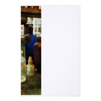 Assorted Chemicals in Bottles Stationery