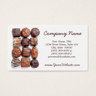 Assorted Chocolates Business Cards