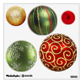 Assorted Christmas Ornaments Wall Sticker