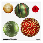 Assorted Christmas Ornaments Wall Stickers