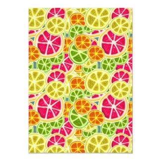 Assorted Citrus Fruit Slices Pattern 5x7 Paper Invitation Card
