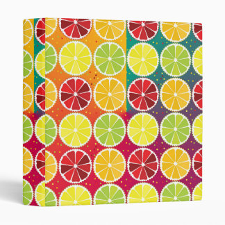 Assorted citrus pattern 3 ring binder
