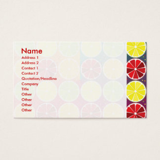 Assorted citrus pattern business card