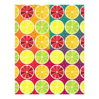 Assorted citrus pattern flyers