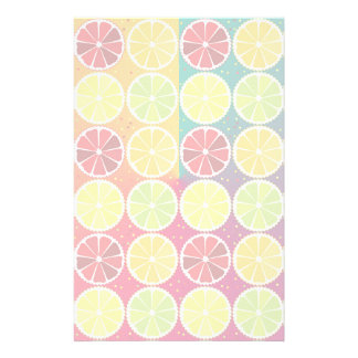 Assorted citrus pattern stationery