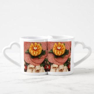 Assorted cold meats coffee mug set