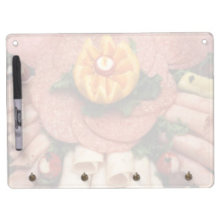 Assorted cold meats dry erase board with keychain holder