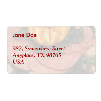 Assorted cold meats label