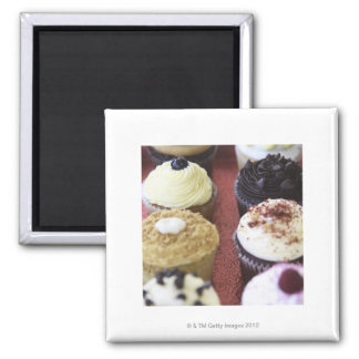 Assorted cupcakes 2 inch square magnet