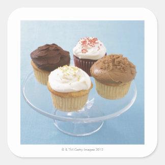 Assorted cupcakes 2 square sticker