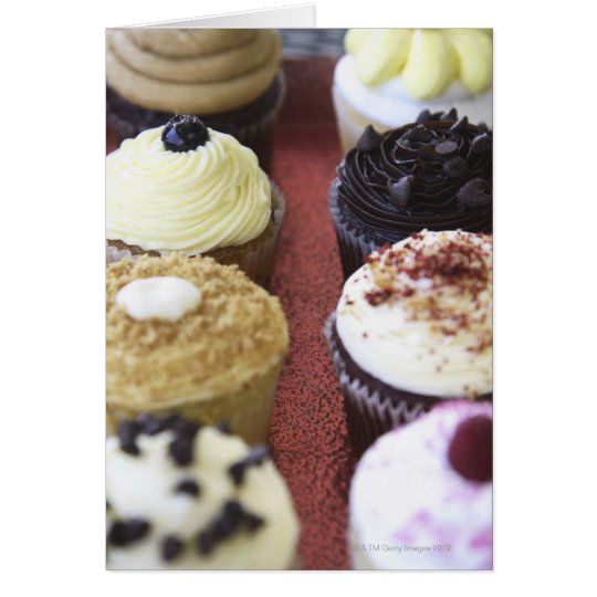 Assorted cupcakes card