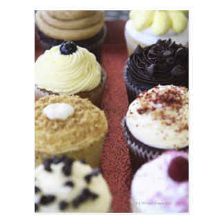 Assorted cupcakes post card
