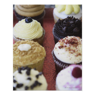 Assorted cupcakes poster