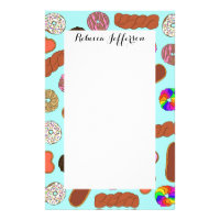 Assorted Cute Breakfast Foodie Donuts Stationery