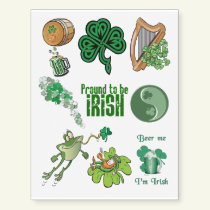 Assorted Cute Irish St Patrick's Day Temporary Tattoos