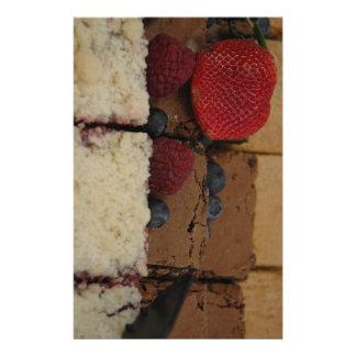 Assorted Desserts Stationery Design