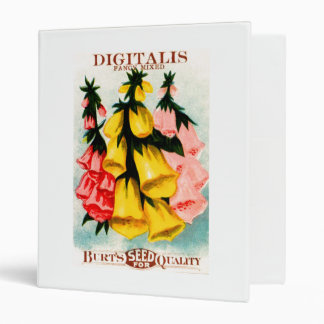 Assorted Digitalis Foxglove Seed Packet Binder