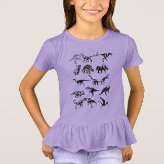 Assorted Dinosaurs Illustration T-Shirt