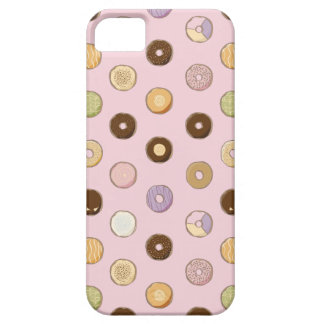 Assorted donut sketch on pink iphone case iPhone 5 case