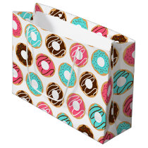 Assorted Donuts Pattern Large Gift Bag