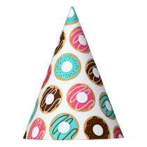 Assorted Donuts Pattern Party Hat