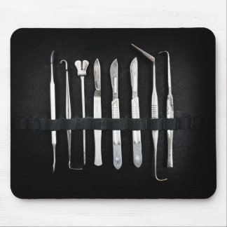 Assorted Embalming Tools Mouse Pad