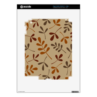 Assorted Fall Leaves Design iPad 2 Decals