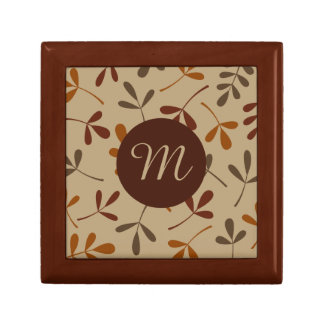 Assorted Fall Leaves Design (Personalized) Gift Box