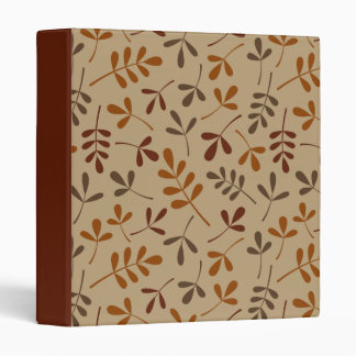 Assorted Fall Leaves Pattern Binder
