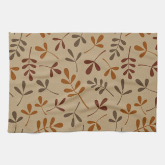 Assorted Fall Leaves Pattern Hand Towel